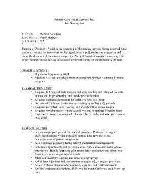 Free Download PDF Books, Medical Assistant Job Description for Resume