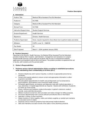 Free Download PDF Books, Medical Office Assistant Job Description