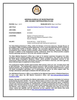 Free Download PDF Books, Associate Medical Examiner Job Description