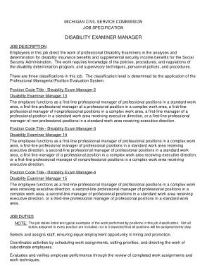 Free Download PDF Books, Medical Disability Examiner Job Description