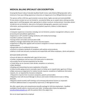Free Download PDF Books, Medical Billing Specialist Job Description