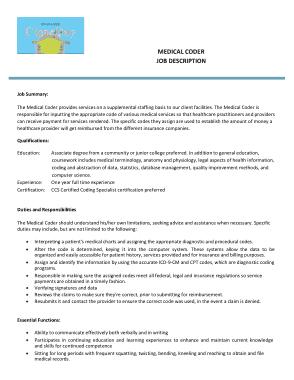 Free Download PDF Books, Medical Coder Job Description