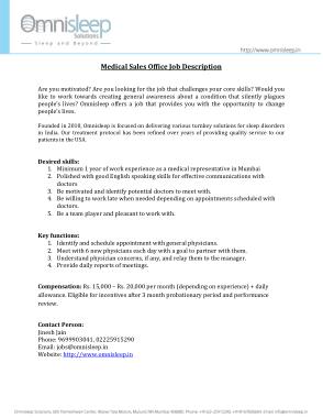 Free Download PDF Books, Medical Sales Office Job Description