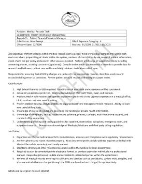 Free Download PDF Books, Hospital Medical Records Job Description