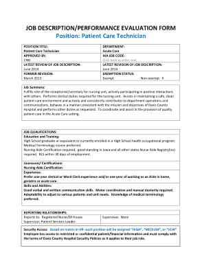 Free Download PDF Books, Medical Patient Care Technician Job Description