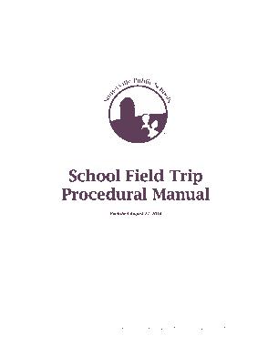 Free Download PDF Books, School Children Field Trip Policy Template