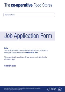 Free Download PDF Books, Co operative Job Application Form Template