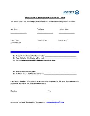 Request For Employment Verification Letter Template