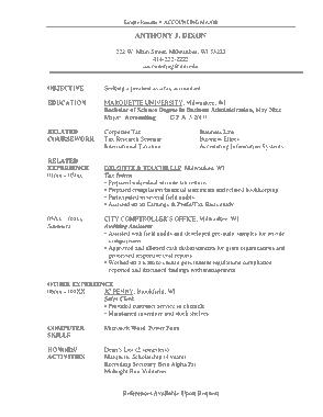 Marketing Analyst Resume Template