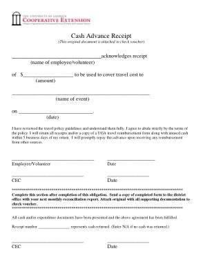 Free Download PDF Books, Cash Advance Payment Receipt Form Template