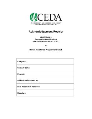 Rent Payment Acknowledgement Receipt Form Template