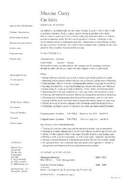Free Download PDF Books, Automobile Car Sales Template
