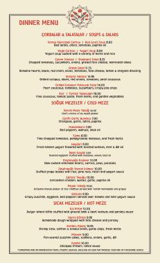 Free Download PDF Books, Free Dinner Menu Template