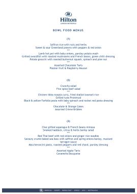 Free Download PDF Books, Bowl Food Menu Sample Template