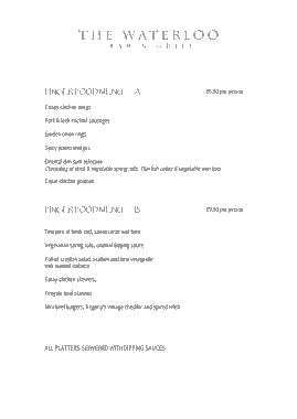 Free Download PDF Books, Finger Food Menu Template