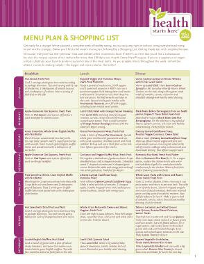 Free Download PDF Books, Food Menu List Sample Template