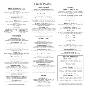Free Download PDF Books, Restaurant Food Menu Sample Template