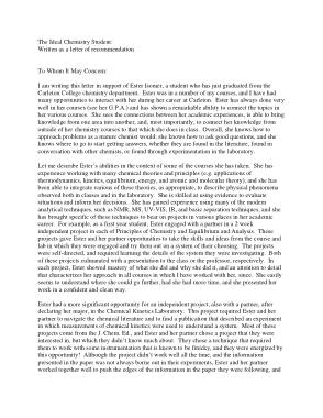 Free Download PDF Books, Sample Chemistry Graduate Studies Recommendation Letter Template