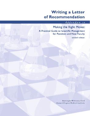 Professor Promotion Recommendation Letter Template