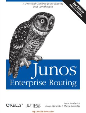 Junos Enterprise Routing 2nd Edition Book