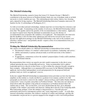School Scholarhsip Recommendation Letter Template