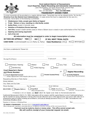 Free Download PDF Books, Blank Transcript Order Form Template