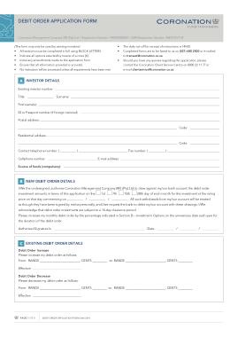 Free Download PDF Books, Debit Order Application Form Template