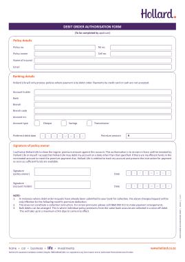 Free Download PDF Books, Debit Order Authorisation Form Template