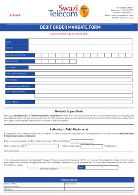 Free Download PDF Books, Debit Order Mandate Form Template
