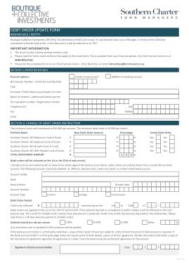 Free Download PDF Books, Debit Order Update Form Template