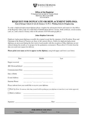 Free Download PDF Books, Duplicate Diploma Order Form PDF Template