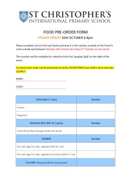 Free Download PDF Books, Sample Food Pre Order Form Template