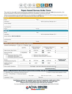 Free Download PDF Books, Paper Based Survey Order Form Template