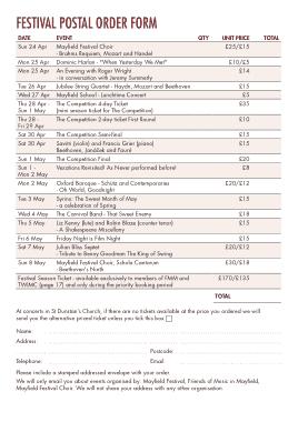 Free Download PDF Books, Festival Postal Order Form Template