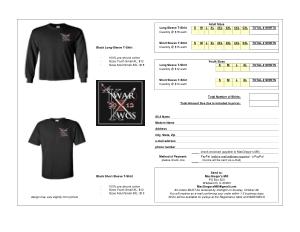 Free Download PDF Books, Free Printable T shirt Order Form Template