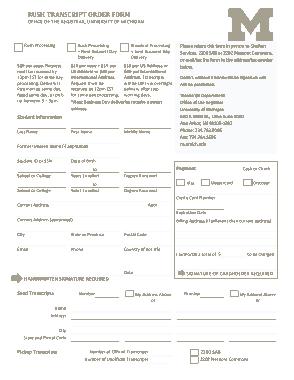 Free Download PDF Books, Rush Transcript Order Form Sample Template