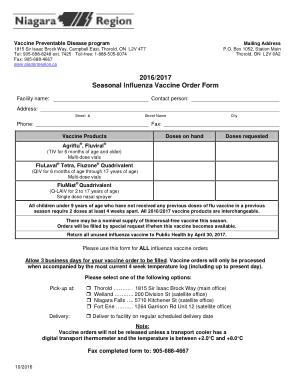 Free Download PDF Books, Flu Vaccine Order Form Free PDF Template