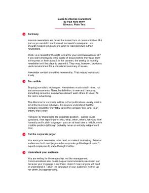 Free Download PDF Books, Internal Business Newsletter Template