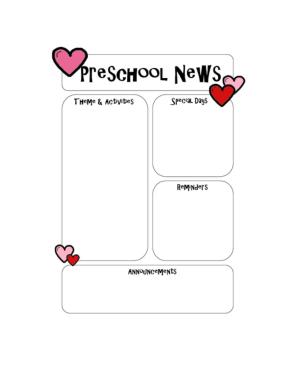 Free Download PDF Books, Preschool Newsletter Microsoft Word Template