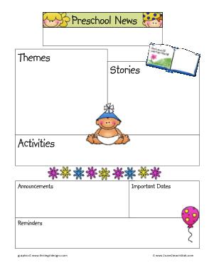 Free Download PDF Books, Preschool Newsletter Template