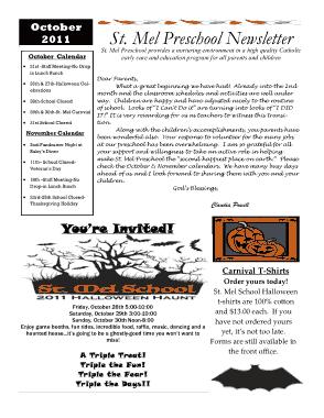 Free Download PDF Books, Preschool Newsletters Free Template