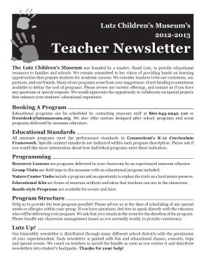 Free Download PDF Books, New Teacher Newsletter Template