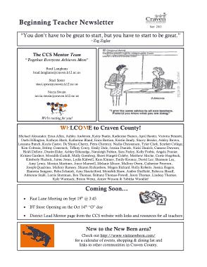 Free Download PDF Books, School Teacher Newsletter Template
