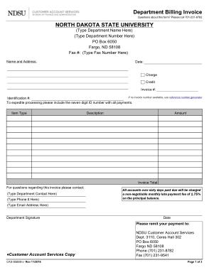 Free Download PDF Books, Ndsu Billing Invoice Form Template