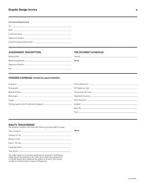 Free Download PDF Books, Simple Graphic Design Invoice Template
