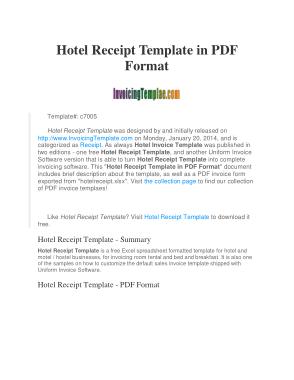 Free Download PDF Books, Sample Hotel Invoice Template