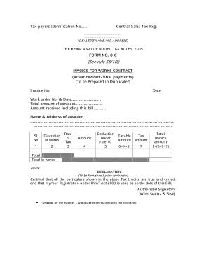 Free Download PDF Books, Contract Job Invoice Template