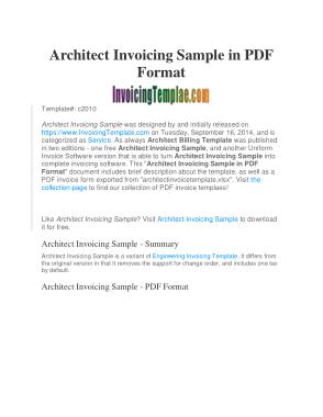 Free Download PDF Books, Sample Job Invoice Template