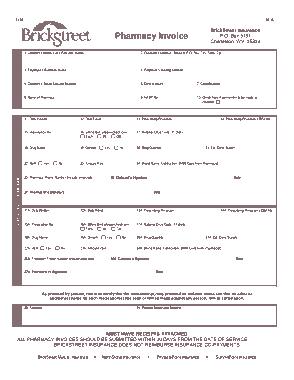 Free Download PDF Books, Printable Pharmacy Invoice Template