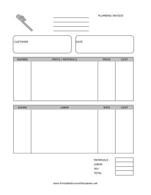 Free Download PDF Books, Plumbing Invoice Template
